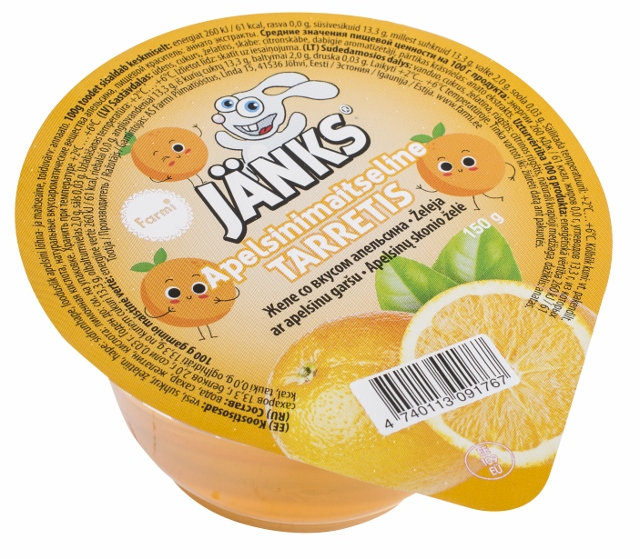 Jänks Orange flavoured jelly